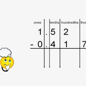 Subtracting Thousandths from a Whole