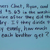 Decimal Division in Word Problems