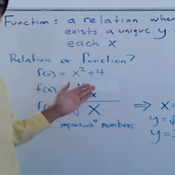 Determining if a Relation is a Function
