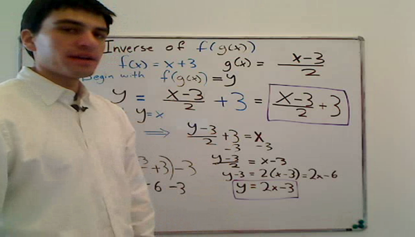 Finding the Inverse of a Function of a Function