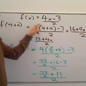 Evaluating a Function for an Algebraic Expression