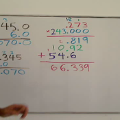 Multiplying Decimals by Whole Numbers