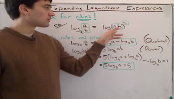 Expansion of Logarithmic Expressions