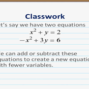 Addition and Subtraction in Nonlinear Equations