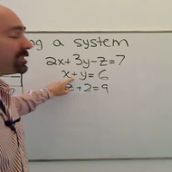 Solving Three Variable Systems Triangle