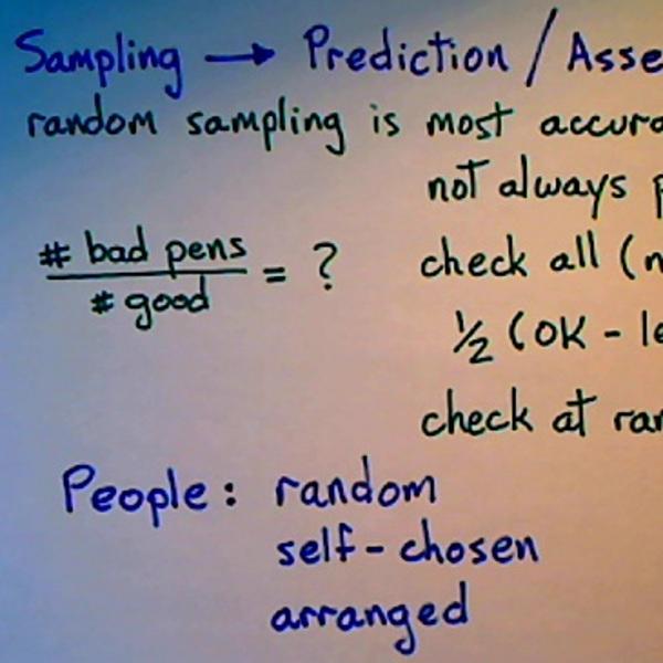Sampling and prediction