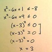 Solutions of Quadratic Inequalities