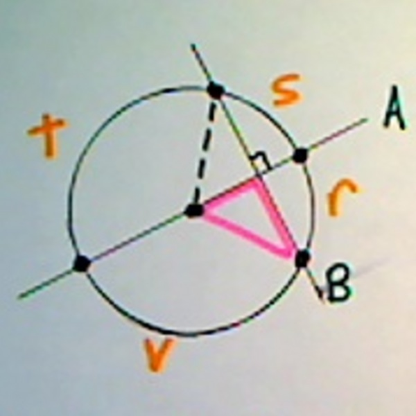 The Relationship Between a Chord and Diameter of a Circle
