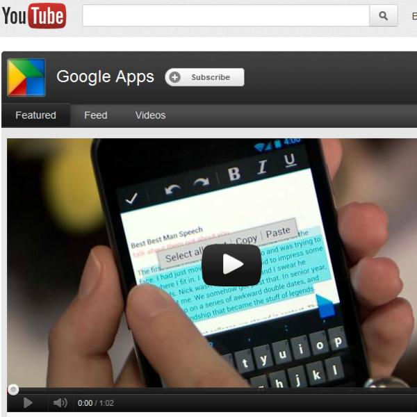 Short Video Tutorials for Google Apps for Education