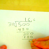 Dividing Three Digit Numbers by Two or Three Digit Numbers Repeating