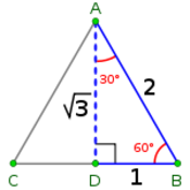 Special Right Triangles/30-60-90 (degrees)