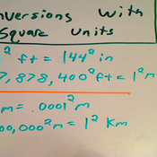 Conversion of Square Units