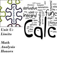 Unit U Concept 8 - Limits at Infinity