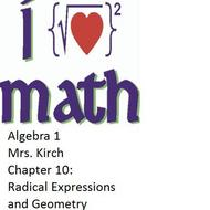 CHAPTER 10 - ALGEBRA 1 (concepts 1-5)
