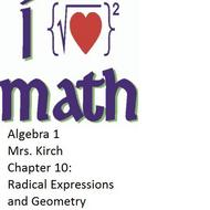 CHAPTER 10 - ALGEBRA 1 (concepts 6-10)