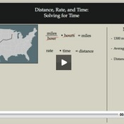 Distance, Rate, and Time: Solving for Time