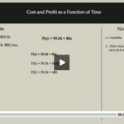 Cost and Profit as a Function of Time