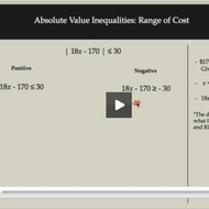 Absolute Value Inequalities: Range of Costs