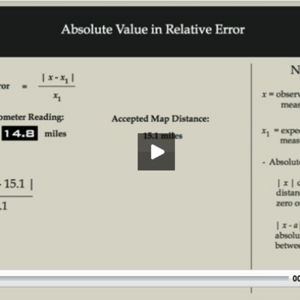 Absolute Value in Relative Error