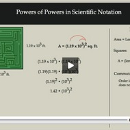 Powers of Powers in Scientific Notation