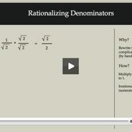 Rationalizing Denominators