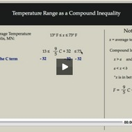 Temperature Range as a Compound Inequality