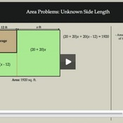 Area Problems: Unknown Side Length