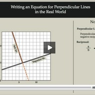 Writing an Equation for Perpendicular Lines in the Real World