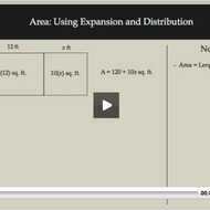 Area: Using Expansion and Distribution