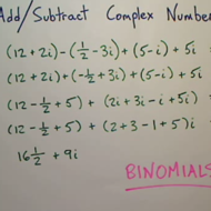 Adding and Subtracting Complex Numbers