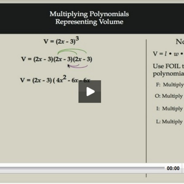 Multiplying Polynomials Representing Volume