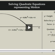Solving Quadratic Equations Representing Motion