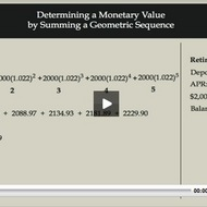Compound Interest: Determining a Monetary Value by summing a Geometric Sequence