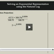Solving Exponential Representation using the Natural Log
