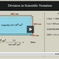 Division in Scientific Notation