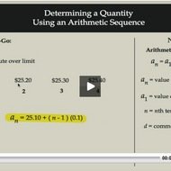 Determining a Quantity Using an Arithmetic Sequence