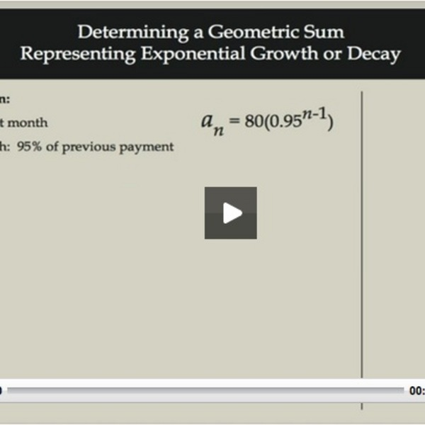 Determining a Geometric Sum representing Exponential Growth or Decay