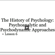 History of Psychology: Psychodynamic & Neo-Freudians