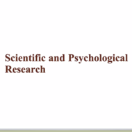 Scientific & Psychological Research