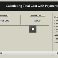Calculating Total Cost with Payments