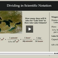 Dividing in Scientific Notation