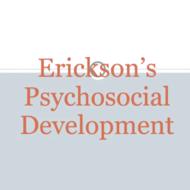 Erikson's Stages of Psychosocial Development: Intimacy vs. Isolation through Integrity vs. Despair