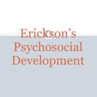 Erickson's Stages of Psychosocial Development: Trust vs. Mistrust through Industry vs. Inferiority