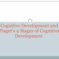 Piaget's 4 Stages of Cognitive Development -Concrete Operational Stage and Formal Operations Stage
