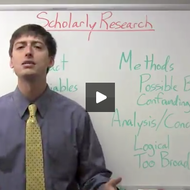 Evaluating Scholarly Research