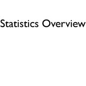 Statistics Overview