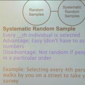 Systematic Random Samples