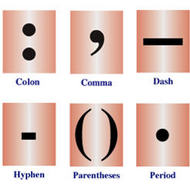 Colons and dashes