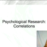 Psychological Research: Correlations