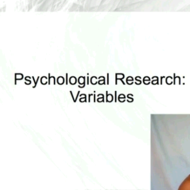 Psychological Research: Variables